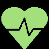 Green healthy heart