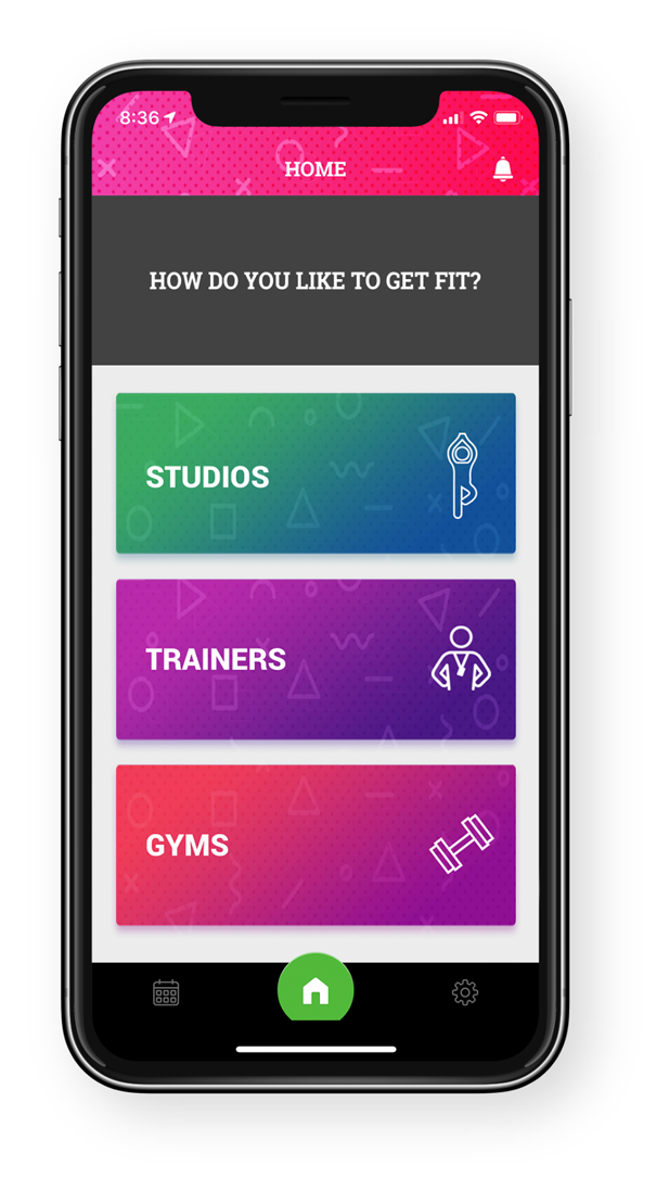 GlobalFit Anywhere App Dashboard