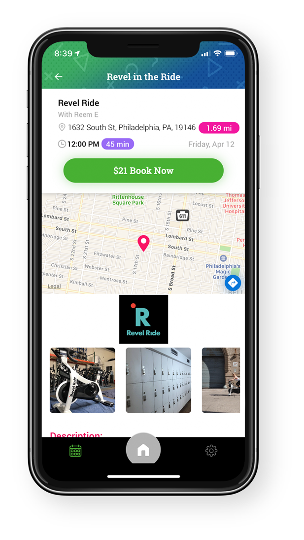 GlobalFit Anywhere App Class Details